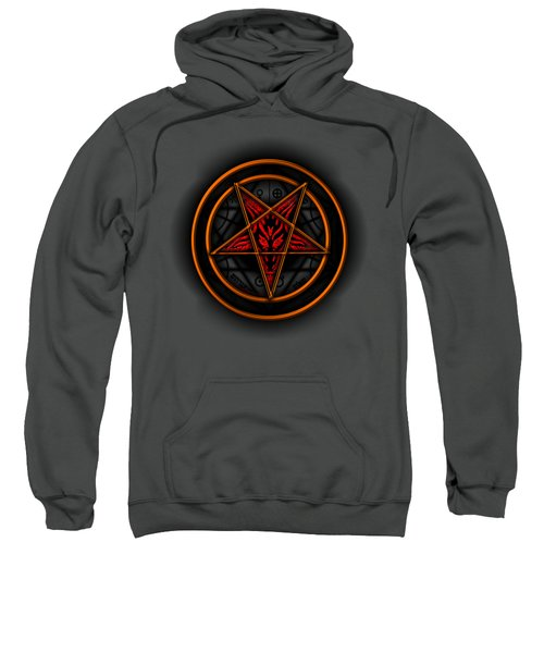 Occult Magick Symbol On Red By Pierre Blanchard Sweatshirt