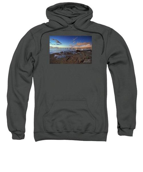 Ocean Beach Pier At Sunset, San Diego, California Sweatshirt
