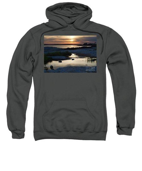 Ocean Point Sunset In East Boothbay Maine  -23091-23093 Sweatshirt