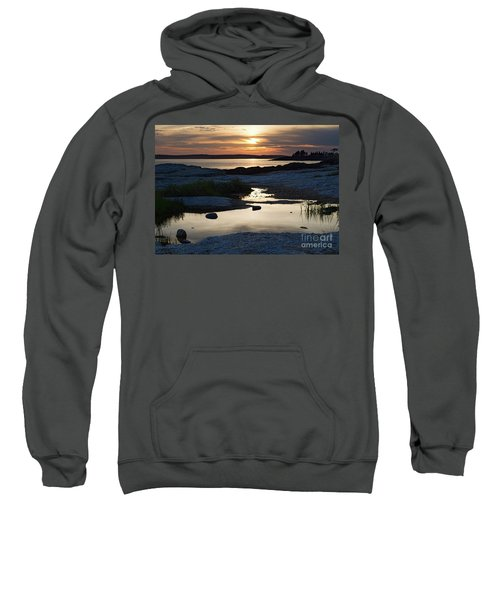 Ocean Point Sunset In East Boothbay Maine  -23091-23093 Sweatshirt
