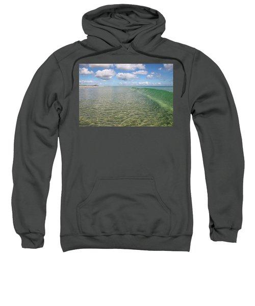 Ocean Waves And Clouds Rollin' By Sweatshirt