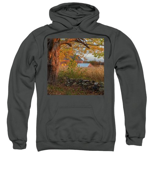 Sweatshirt featuring the photograph October Morning 2016 Square by Bill Wakeley