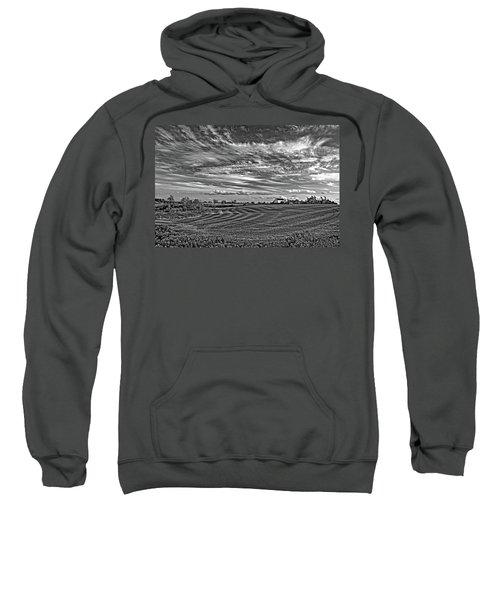 October Patterns Bw Sweatshirt