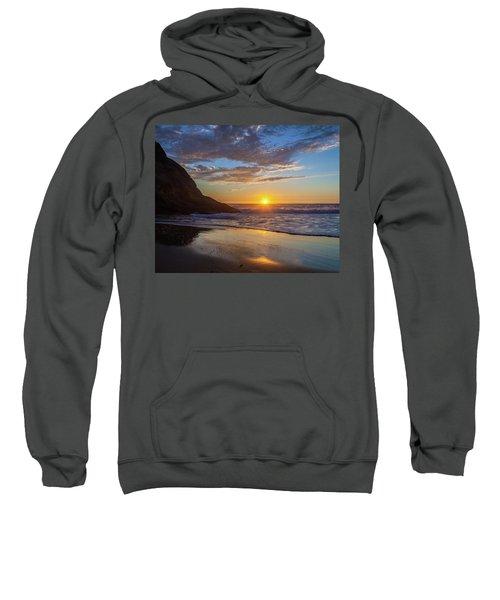 October Sunset Strands Beach Sweatshirt