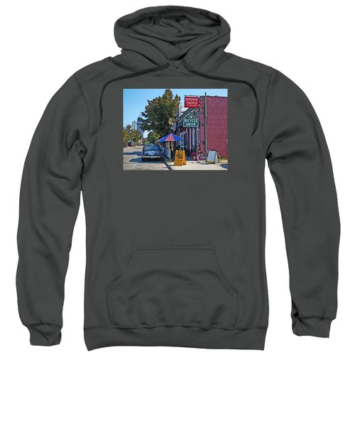 Ok Bicycle Yellow Sign Sweatshirt