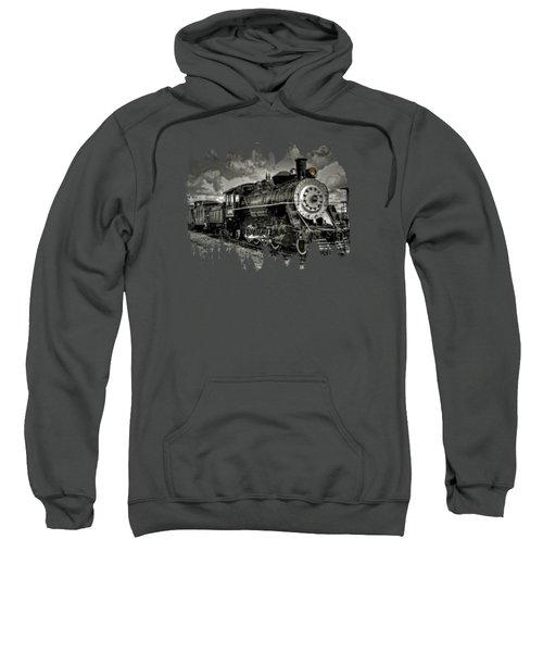 Old 104 Steam Engine Locomotive Sweatshirt