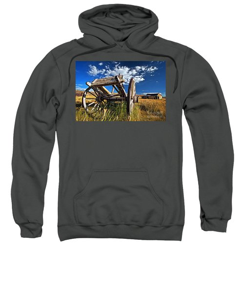 Old Abandoned Wagon, Bodie Ghost Town, California Sweatshirt