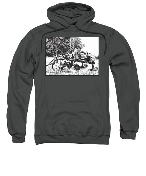 Old And Rusty In Black White Sweatshirt