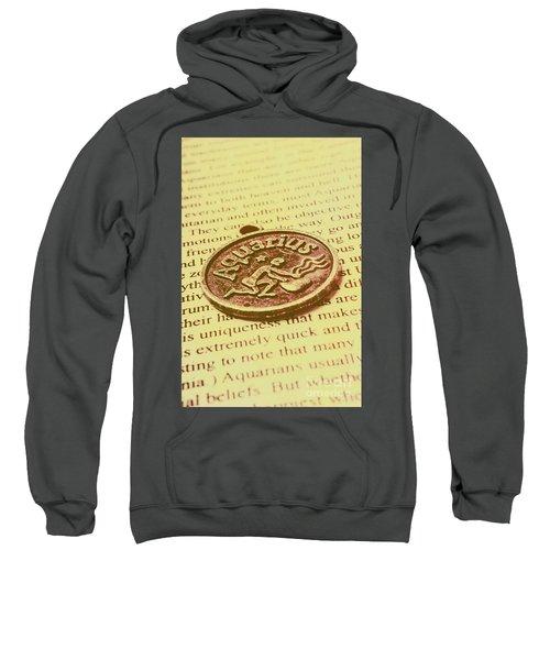 Old Aquarius Astrology Sweatshirt