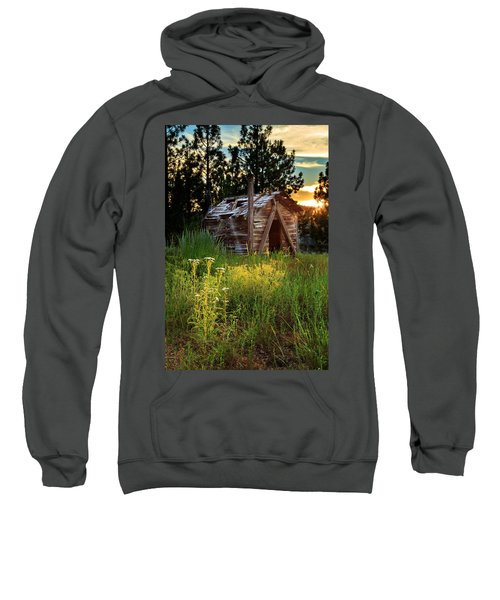 Old Cabin At Sunset Sweatshirt