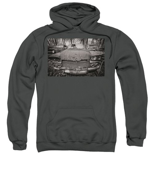 Old Car City In Black And White Sweatshirt
