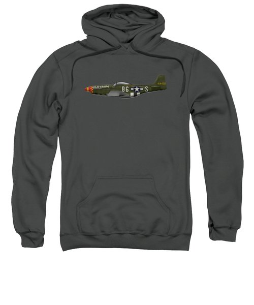 Old Crow - P-51 D Mustang Sweatshirt by Ed Jackson