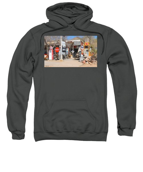 Old Gas Station, Historic Route 66 Sweatshirt