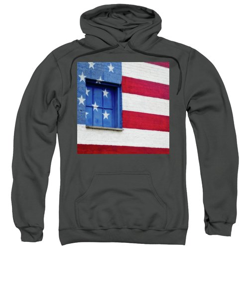 Old Glory, American Flag Mural, Street Art Sweatshirt