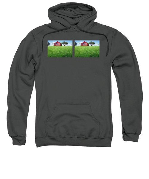 Old Glory On The Rise - 1 - Double Image Mug Sweatshirt