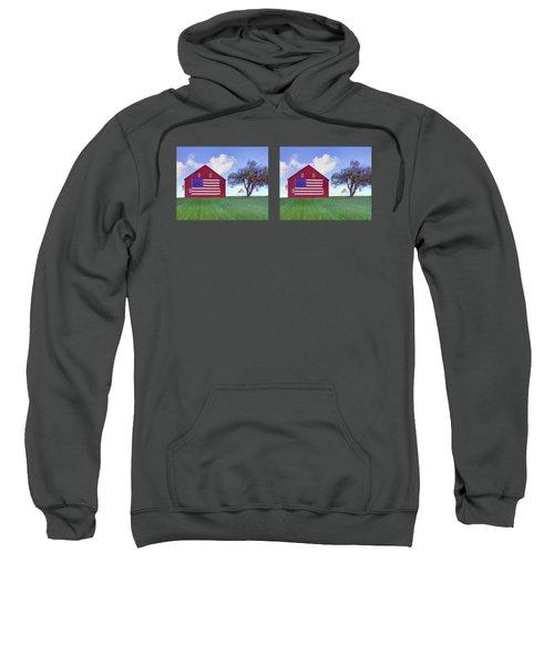 Old Glory On The Rise - 2 - Double Image Mug Sweatshirt