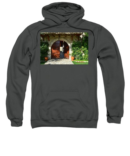 Old House Door Sweatshirt by Nuri Osmani