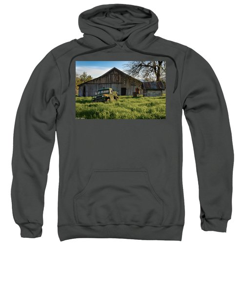 Old Jeep, Old Barn Sweatshirt