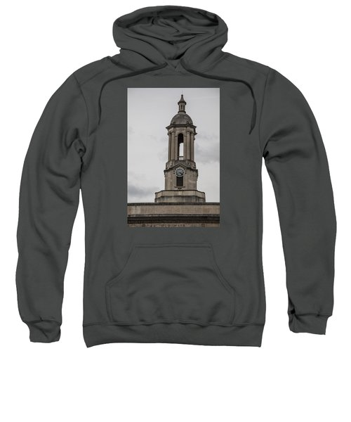 Old Main From Front Clock Sweatshirt by John McGraw