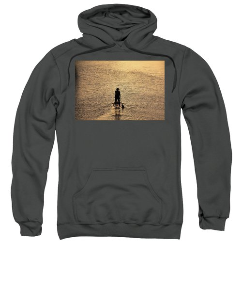 Old Man Paddling Into The Sunset Sweatshirt