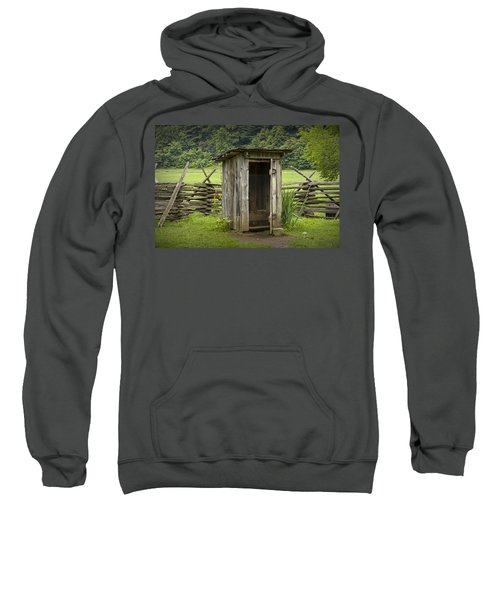 Old Outhouse On A Farm In The Smokey Mountains Sweatshirt