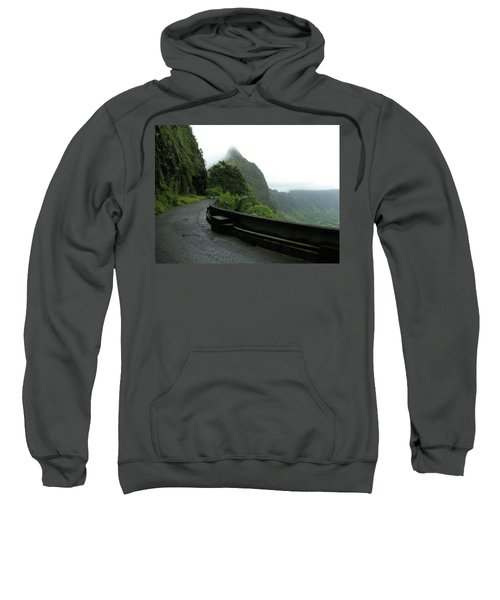 Sweatshirt featuring the photograph Old Pali Road, Oahu, Hawaii by Mark Czerniec