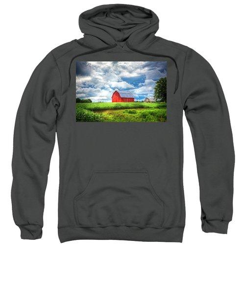 Old Red Barn In The Sun Sweatshirt
