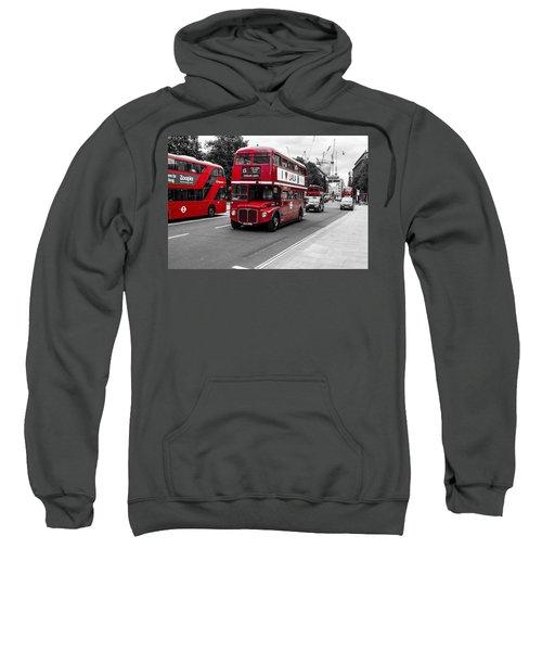 Old Red Bus Bw Sweatshirt