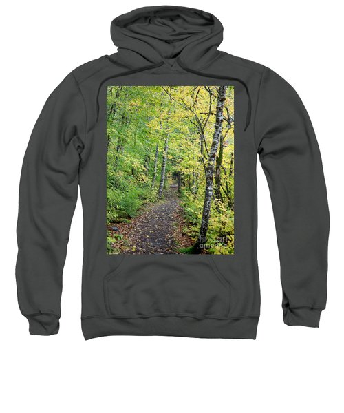 Sweatshirt featuring the photograph Old Rr Right-away by Peter Simmons