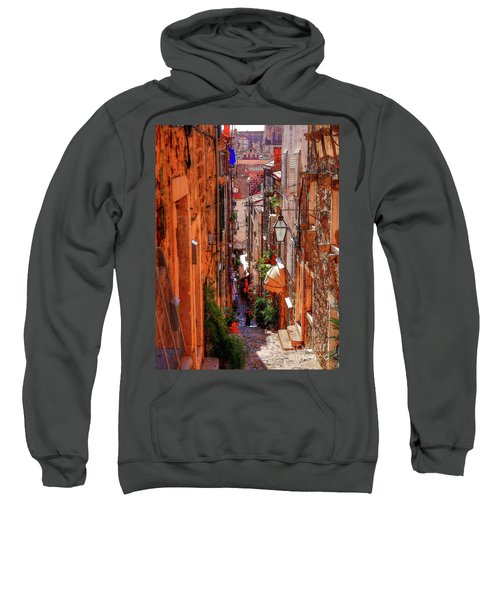 Old Town Dubrovniks Inner Passages Sweatshirt