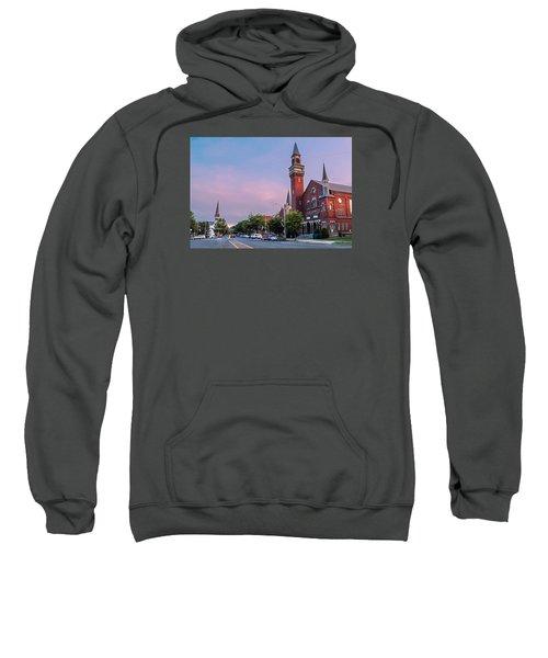 Old Town Hall Sunset Sky Sweatshirt