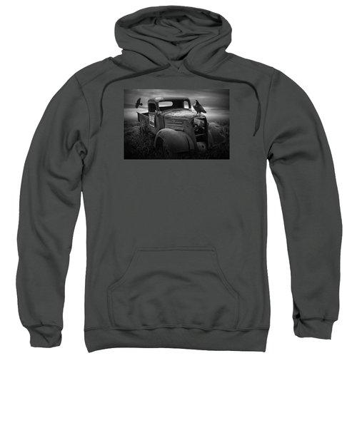Old Vintage Chevy Pickup Truck With Ravens Sweatshirt