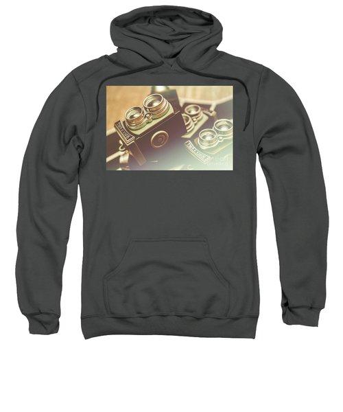 Old Vintage Faded Print Of Camera Equipment Sweatshirt