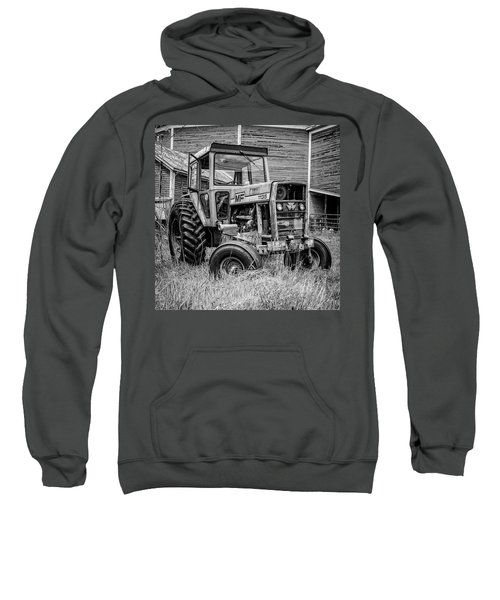 Old Vintage Tractor On A Farm In New Hampshire Square Sweatshirt