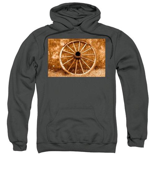 Old Wagon Wheel - Sepia Sweatshirt