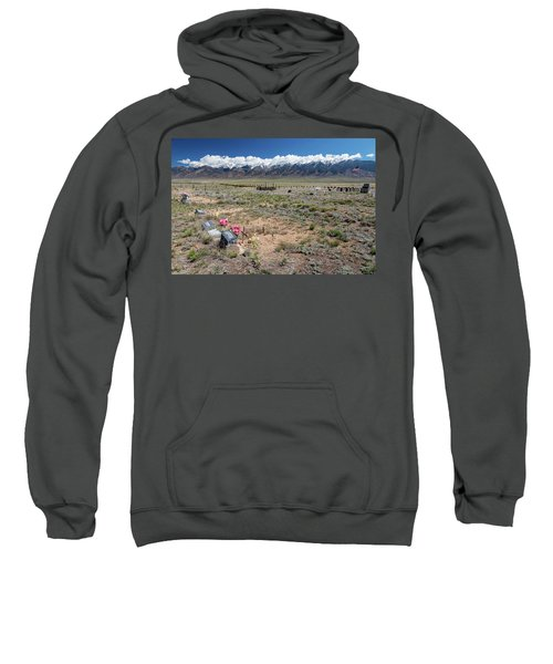 Old West Rocky Mountain Cemetery View Sweatshirt by James BO Insogna