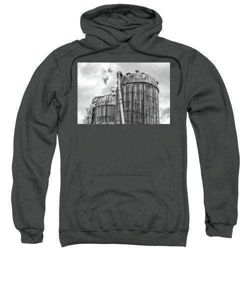 Old Wooden Silos Ely Vermont Sweatshirt
