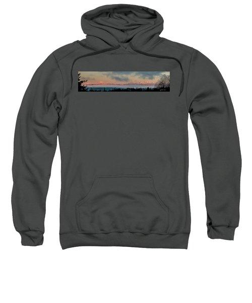 Olympic Mountains At Dawn.1 Sweatshirt