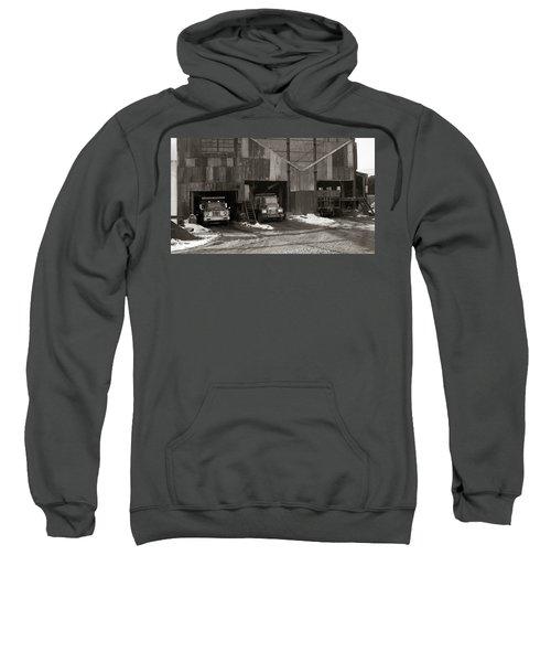 Olyphant Pa Coal Breaker Loading Trucks And Gondola Car Winter 1971 Sweatshirt