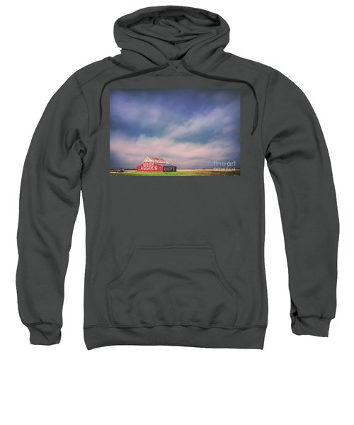 Ominous Clouds Over The Aggie Barn In Reagan, Texas Sweatshirt