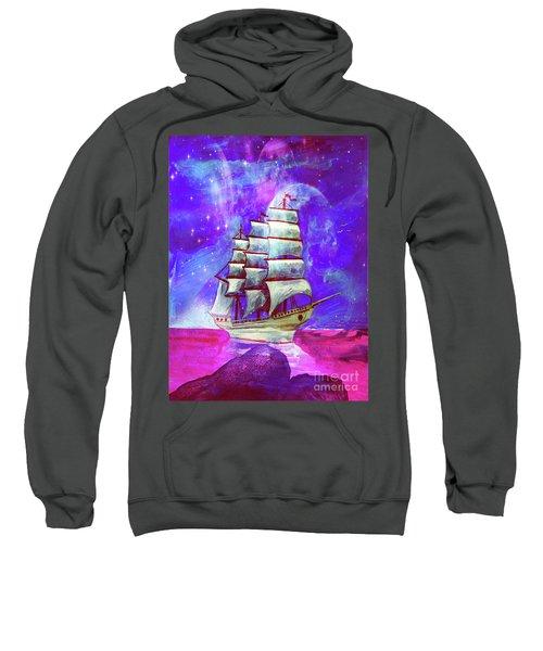 On The Sea At Sunset Sweatshirt