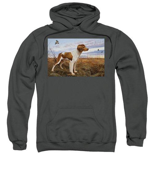 On Watch - Brittany Spaniel Sweatshirt