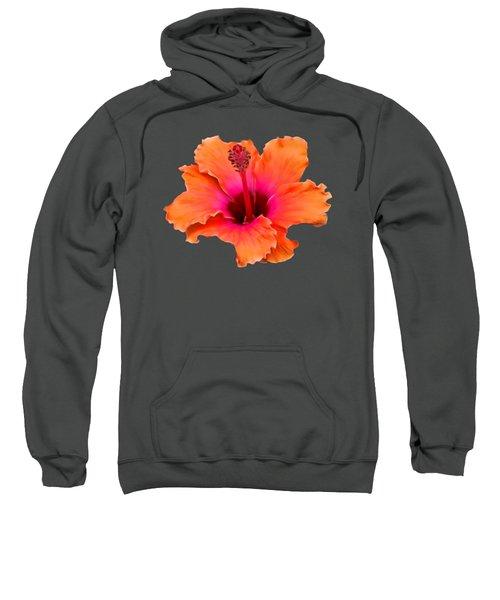 Orange And Pink Hibiscus Sweatshirt