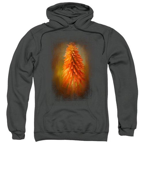 Orange Blast In The Garden Sweatshirt by Jai Johnson