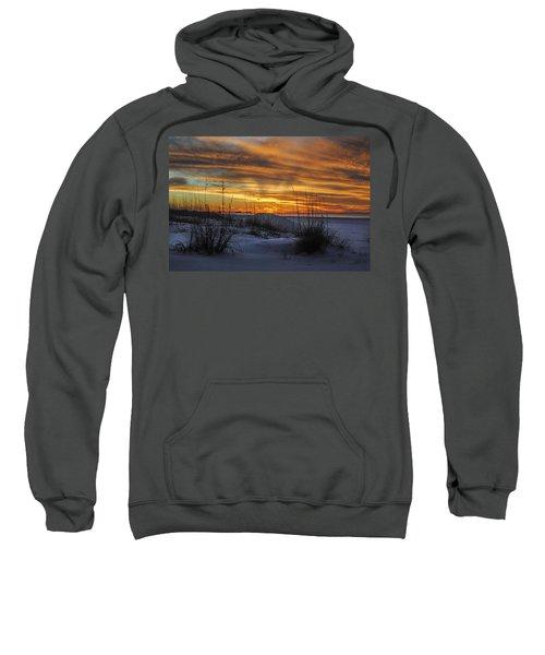 Orange Clouded Sunrise Over The Pier Sweatshirt