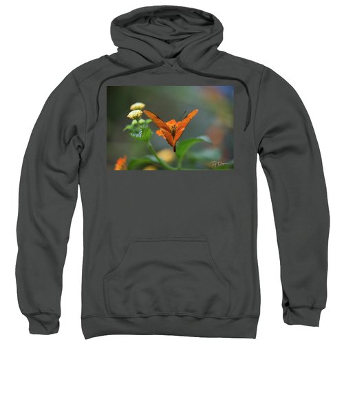 Orange Is The New Butterfly Sweatshirt