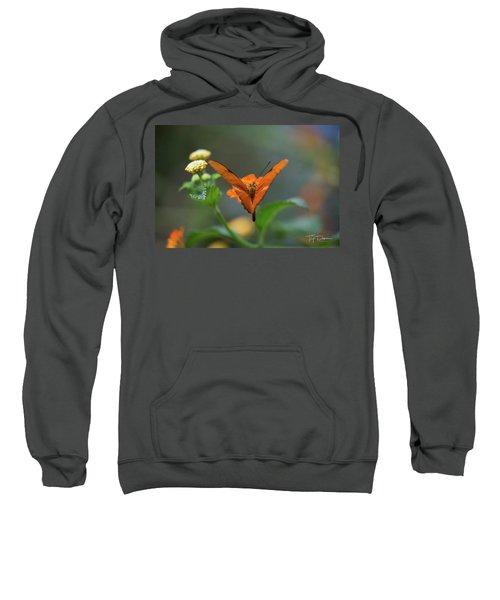 Orange Is The New Butterfly Sweatshirt