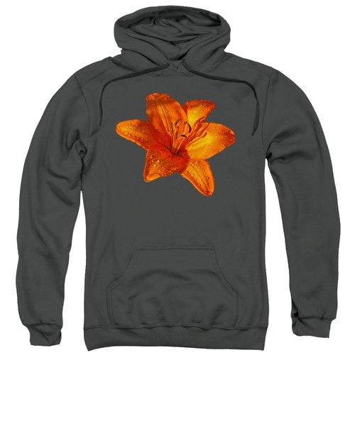 Orange Lily In Sunshine After The Rain Sweatshirt by Gill Billington