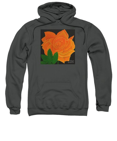 Orange Rose Sweatshirt