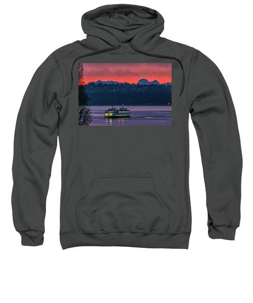 Orange Sky With Purple Sea Sweatshirt